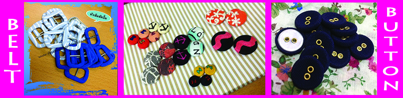fabric button and belt